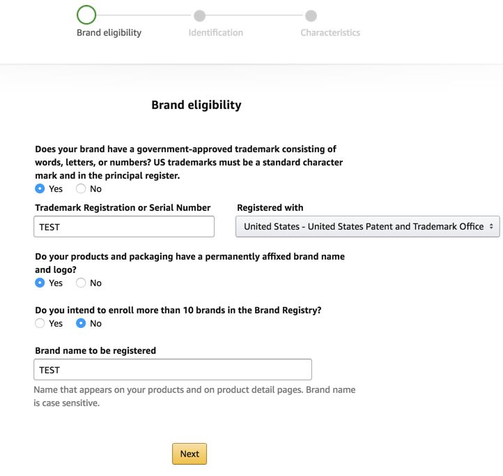 amazon brand registry authorization form