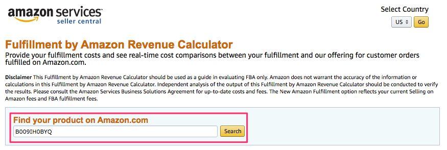 amazon fba revenue calculator