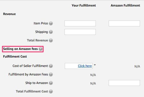 calculator fba amazon